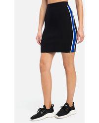 Bebe Ann Rib Waist Jumper Skirt - Black