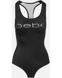 Bebe Logo Bodysuit - Black