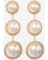 Bebe - Pearl Linear Earring - Lyst