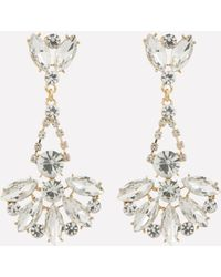 Bebe - Gold & Crystal Earrings - Lyst
