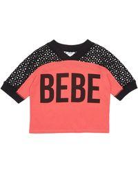 Bebe Girls Logo Mesh Block Top - Multicolor