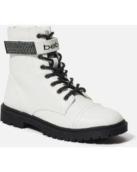 Bebe Dayani Combat Boots - White