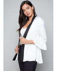 Bebe - Kara Pleated Jacket - Lyst