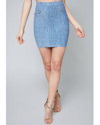 Bebe - Grace Bandage Skirt - Lyst