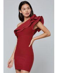Bebe - One Shoulder Bandage Dress - Lyst