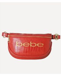 Bebe Josephine Croco Convertible Sling - Red