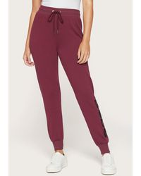 Bebe Sherpa Logo Jogger Trousers - Red