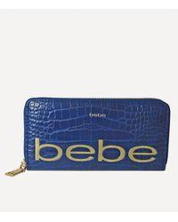 Bebe Fabiola Stamped Wallet - Blue