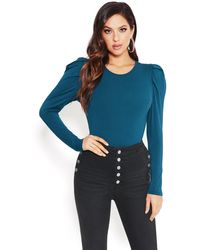 Bebe - Ruched Shoulder Top - Lyst