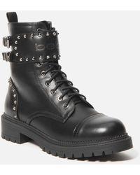 Bebe Dalila Combat Boots - Black