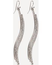 Bebe - Triple Wave Linear Earrings - Lyst