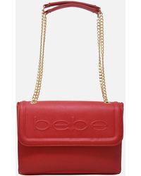 Bebe Lila Flap Shoulder Bag - Red