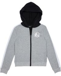Bebe Girls Foil Logo Fleece Jacket - Gray