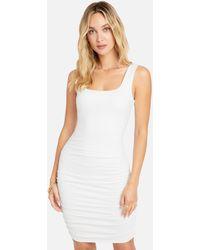 Bebe Low Back Ruched Mini Dress - White