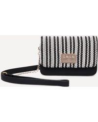 Bebe - Basketweave Crossbody Bag - Lyst