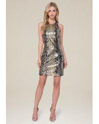 Bebe | Krysta Sequin Python Dress | Lyst