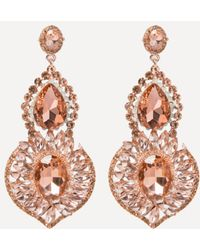 Bebe - Crystal Statement Earrings - Lyst