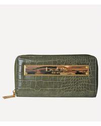 Bebe Abigail Croco Continental Wallet - Green