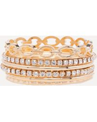 Bebe - Sparkly & Shiny Bangle Set - Lyst