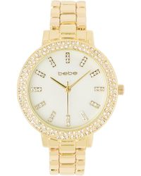 Bebe Pearlized Dial Watch - Metallic