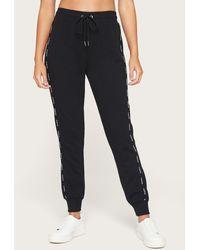Bebe Logo Black Jogger Trousers