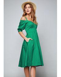 Bebe Sami Cold Shoulder Dress - Green
