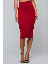 Bebe - Knit Midi Skirt - Lyst