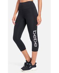 Bebe Sport Tie Dye Logo Capri - Black