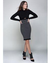 Bebe - Mock Neck Sweater Dress - Lyst