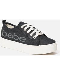 Bebe Destini Platform Trainers - Black
