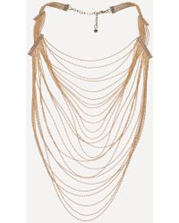 Bebe | Draped Shot Bead Necklace | Lyst
