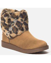 Bebe Larabelle Faux Suede Winter Boot - Brown