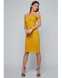 Bebe - Serena Bi-stretch Dress - Lyst