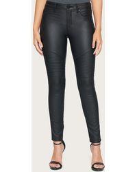 Bebe Coated Moto Skinny Jeans - Black