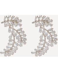 Bebe | Crystal Baguette Cuff Earrings | Lyst