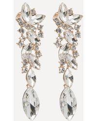 Bebe - Ornate Linear Earrings - Lyst