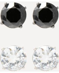 Bebe - Crystal Stud Earring Set - Lyst