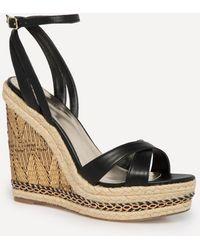 Bebe - Zuria Chain Wedge Sandals - Lyst