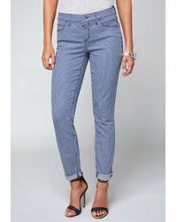 Bebe - Conductor Stripe Jeans - Lyst