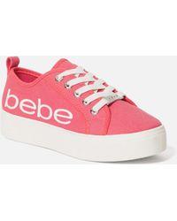 Bebe Destini Platform Trainers - Pink
