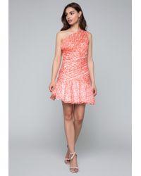 Bebe - One Shoulder Dress - Lyst
