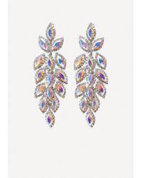 Bebe - Ornate Crystal Earrings - Lyst