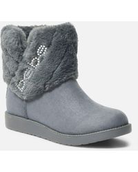 Bebe Larabelle Faux Suede Winter Boot - Grey