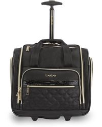 Bebe Quilted 15-inch Underseat Carry-on Bag - Black