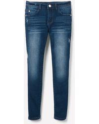 Bebe Girls Blingy Logo Jeans - Blue