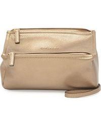 Givenchy Pandora Mini Metallic Crossbody Bag - Lyst