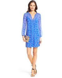 Diane von Furstenberg Dvf Aria Chiffon Tunic Dress - Lyst