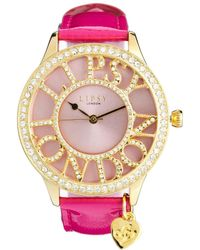 Lipsy - Pink Strap Watch with Mother Of Pearl Dial - Lyst
