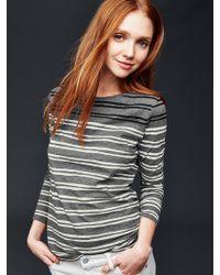 Gap | Stripe Boatneck Long Sleeve Tee | Lyst