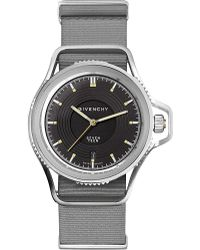 Givenchy Gy100181s10 Seventeen Stainless Steel And Leather Watch - Black